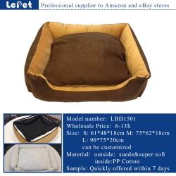 Washable cozy dog bed/soft warm pet dog bed removable cover manufacturer wholesale