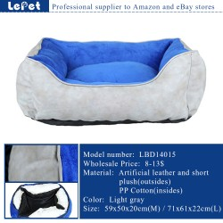 Hot sale washable handmade large luxury pet dog bed wholesale
