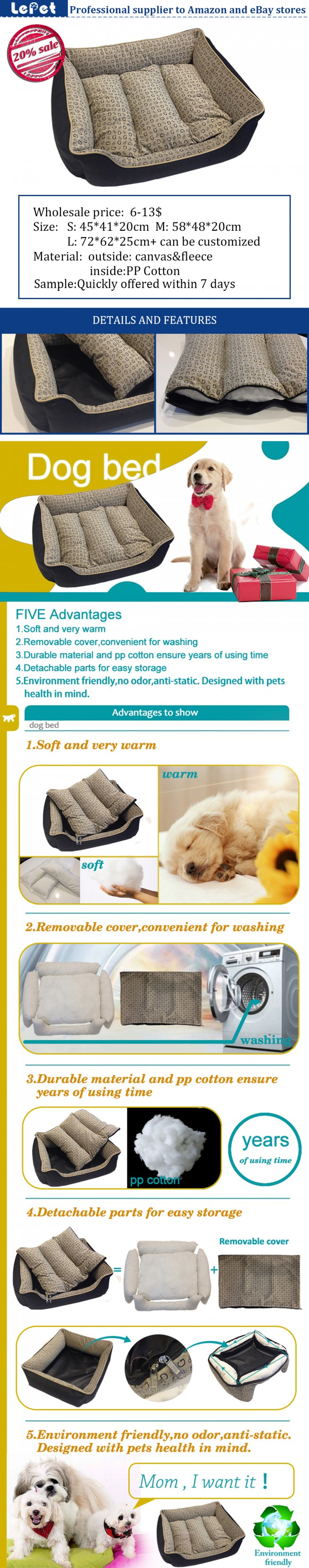 Pet supplies online wholesale washable dog beds dog beds online
