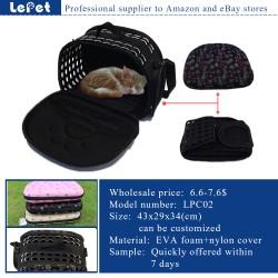 Manufacturer wholesale Comfort travel EVA foam portable pet carrier dog purse carrier