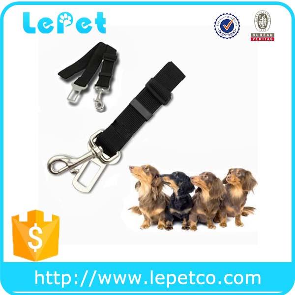 Nylon material aliuminium alloy Dog car seatbelt manufacturer wholesale