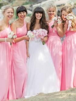 Asymmetric One Shoulder Bridesmaid Dresses UK | Dressfashion.co.uk
