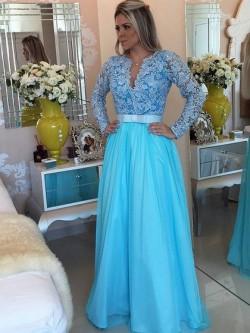 Low Cut V-Neck Prom Dresses, Plunge V-Neck Dress, DressFashion
