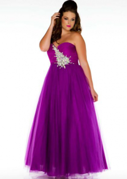 US$184.99 2015 Sweetheart Crystals Ocean Blue Purple Tulle Lace Up Sleeveless Ball Gown