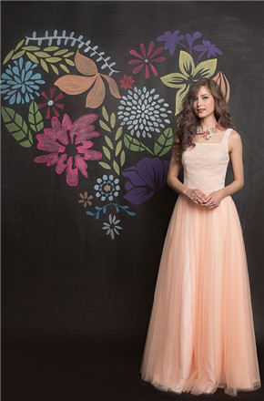 US$141.99 2016 Zipper Floor Length Pink A-line Straps Chiffon Ruched Sleeveless