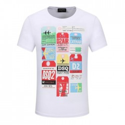 Dsquared2 Men D108 Air Tags Short Sleeves T-Shirt White
