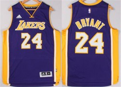 #24 Kobe Bryant Los Angeles Lakers Swingman Purple Stitched Jerseys