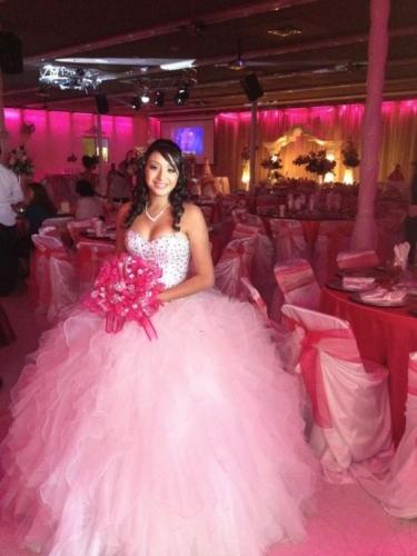 2017 New Beaded Sweet 15 Dress Light Pink Vestidos De Fiesta Satin Organza Quinceanera Ball Gown