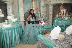 2017 New Sequined Beaded Sweet 15 Ball Gown White and Blue Satin Organza Prom Dress Gown Vestido ...
