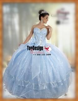 2017 New Sequined Beaded Sweet 15 Dress Baby Blue Vestidos De Fiesta Satin Tulle Bowknot Quincea ...