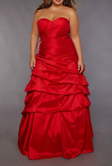 US$167.99 2015 Sweetheart Lace Up Taffeta A-line Floor Length Sleeveless Red Ruched