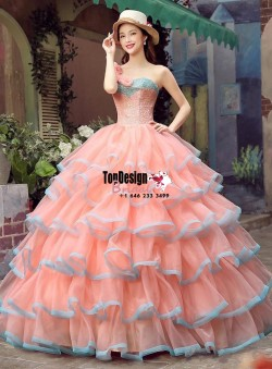 Wholesale 2017 Sweet 15 Dress 2016 Bead New Ball Gown Party Evening Prom Quinceanera Pageant Dresses