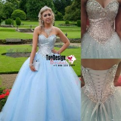 Wholesale 2017 Sweet 15 Dress Crystals Sequins Quinceanera Dress Prom Party Pageant Sweet 15 Bal ...