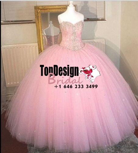 Wholesale 2017 Sweet 15 Dress Custom Pink Crystal Ball Gown Quinceanera Dresses For 15 Years Pro ...