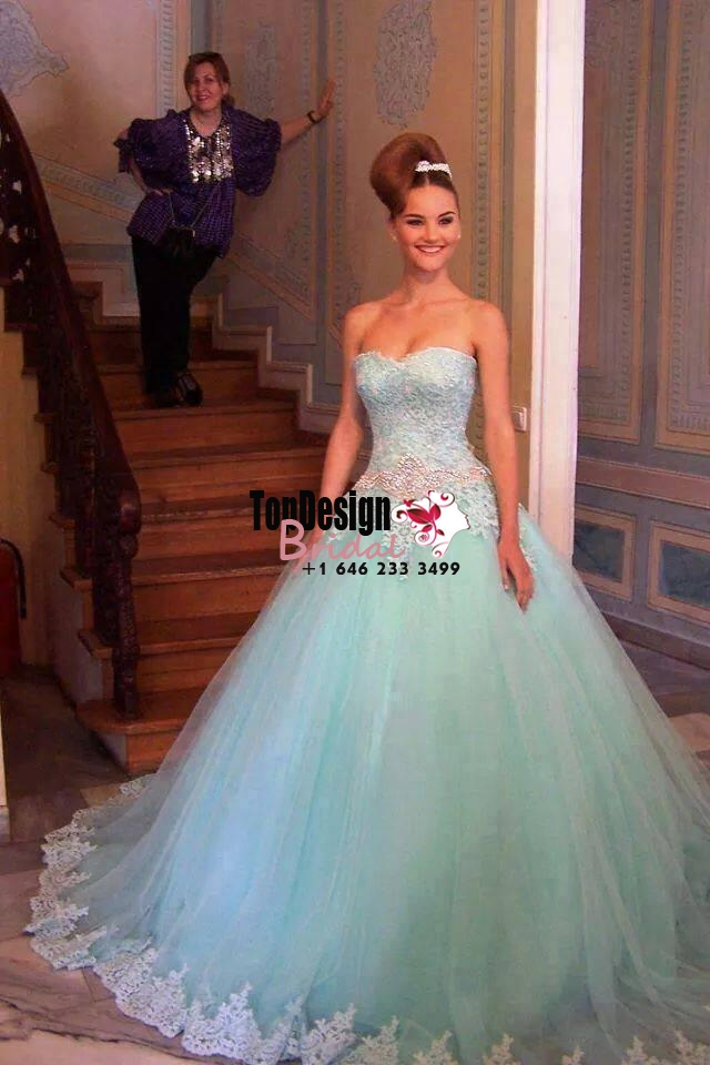 Wholesale 2017 Sweet 15 Dress New Beaded Ball Gown Quinceanera Dress Formal Prom Pageant Party Dress