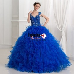 Wholesale 2017 Sweet 15 Dress New Beaded Quinceanera Dress Bridal Ball Party Wedding Gown Prom D ...