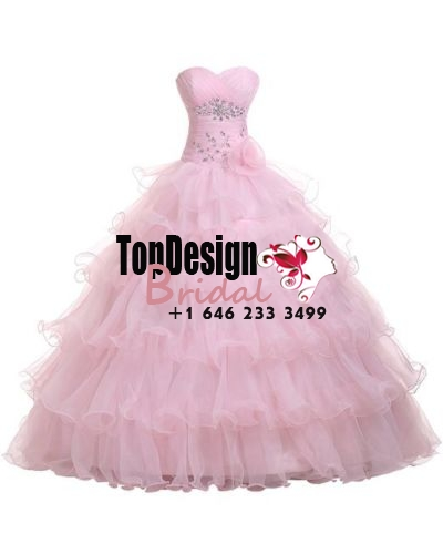 Wholesale 2017 Sweet 15 Dress New Fashion Ball Gown Ruffles Stone Quinceanera Prom Party Dresses