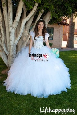 Wholesale 2017 Sweet 15 Dress Princess Sweetheart Quinceanera Dress Crystal Organza Custom Pagea ...