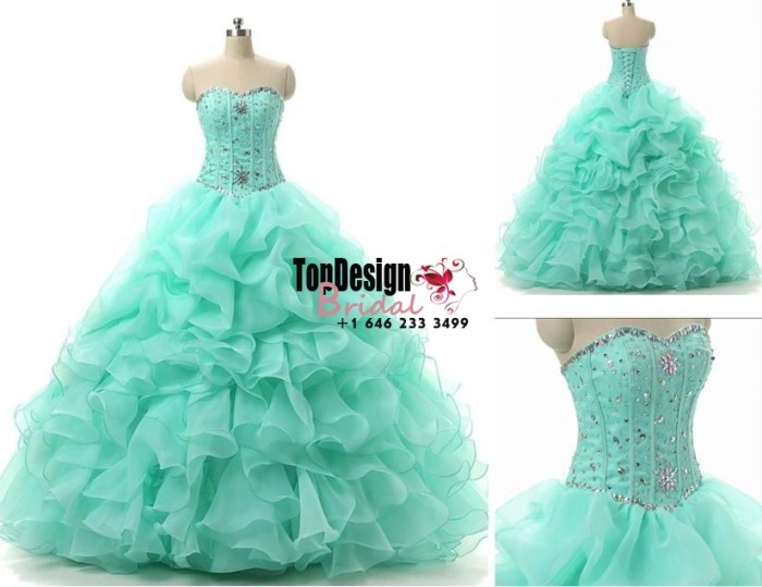 Wholesale 2017 Sweet 15 Dress Stock Green Quinceanera Dresses For 15 Party Formal Prom Party Bal ...