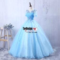 Wholesale Vestidos De Fiesta New 2017 Flower Sweet 15 Dress Blue Pleated Bodice Quinceanera Ball ...