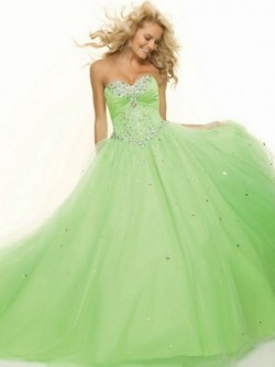 Ball Gown Sweetheart with Beading Sleeveless Floor-length Tulle Dress