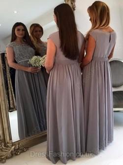 Long  Short Chiffon Bridesmaid Dresses UK from uk.millybridal.org