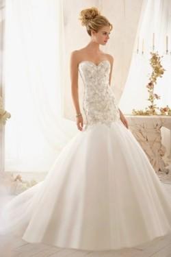 Abito da sposa Sirena Senza Maniche Naturale collo Sweetheart Lungo – www.ysun.it
