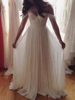 Shop A-line Off-the-shoulder Chiffon with Ruffles Floor-length Perfect Long Ball Dresses in New  ...