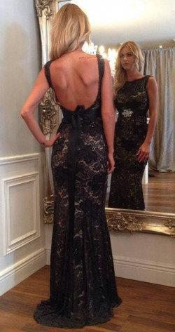 Shop Lace Scoop Neck Sweep Train Trumpet/Mermaid Beading Ball Dresses in New Zealand