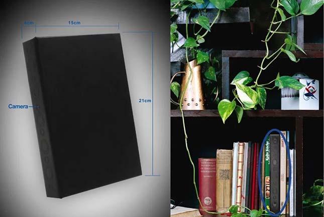 HD Nachtsicht Video Recorder Spion Kamera im Buch
