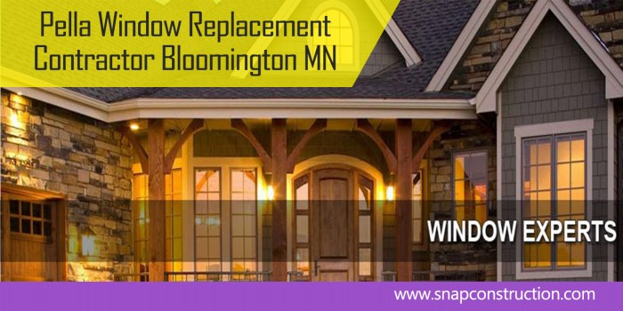 Pella Window Replacement contractor bloomington mn