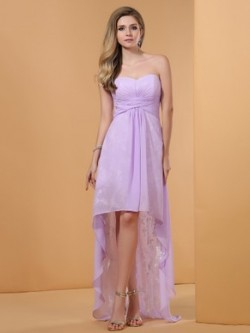 Prom High Low Dresses, Asymmetric Prom Dress