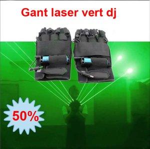 Gants Laser Vert de protection pour les quatre lasers.