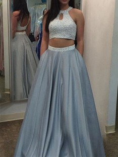 Two Piece Dresses Australia, 2 Piece Prom Gowns Cheap – DreamyDress