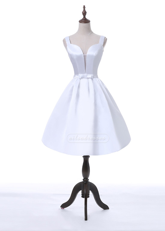 Ailsa Fashion Vintage A-Line Sweetheart Sheer Insert White Homecoming Party Dress [A-002] – ...