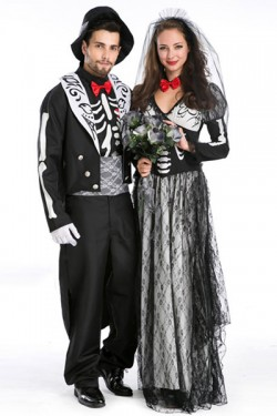 Halloween zombie bride style ladies mask costume costumes Vampire style men's disguise costume
