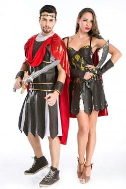 Roman warrior Halloween event direction cosplay costume Ancient European warrior costumes disgui ...
