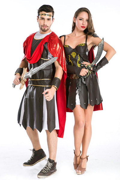 Roman warrior Halloween event direction cosplay costume Ancient European warrior costumes disgui ...
