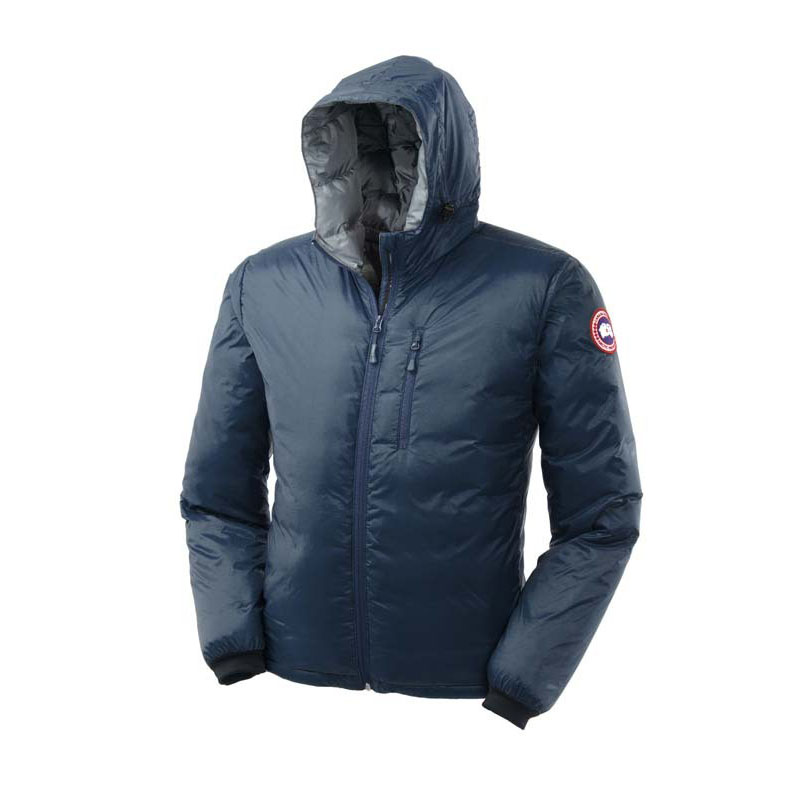 Canada Goose Men's Lodge Down Hoody In Blue