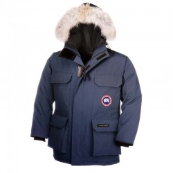 Canada Goose Youth's Expedition Parka In Navy Blue