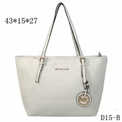 Cheap Michael Kors Jet Set Travel Leather Top-Zip Tote White