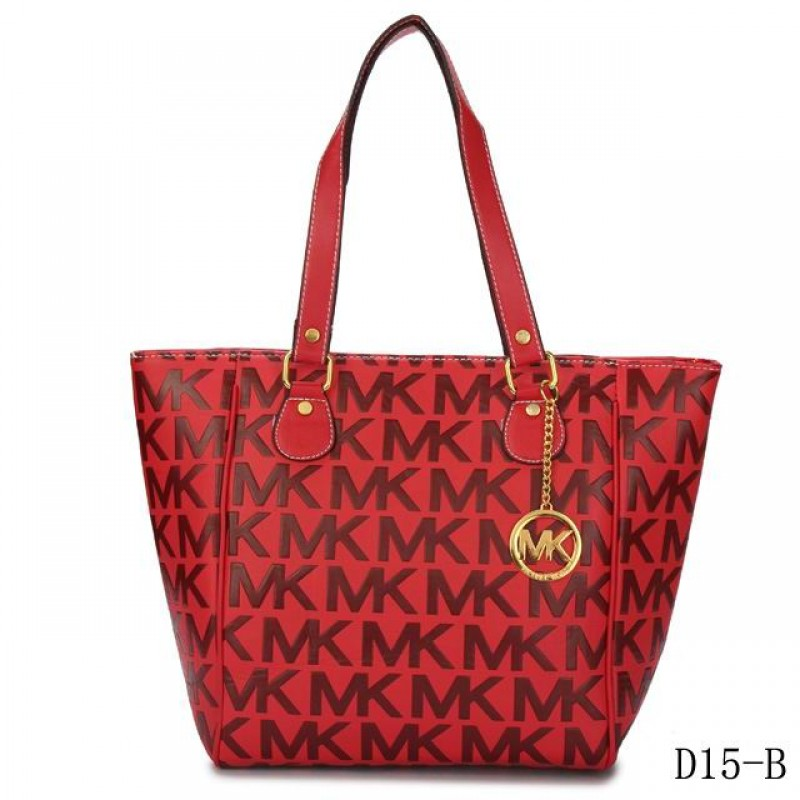 Cheap Michael Kors Jet Set Traveller Logo Tote Red