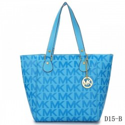 Cheap Michael Kors Jet Set Traveller Logo Tote Sky Blue