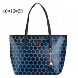 Cheap Michael Kors Kiki Dotted Large Totes Blue