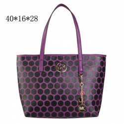 Cheap Michael Kors Kiki Dotted Large Totes Purple