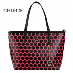 Cheap Michael Kors Kiki Dotted Large Totes Rose