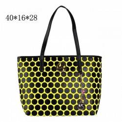 Cheap Michael Kors Kiki Dotted Large Totes Yellow