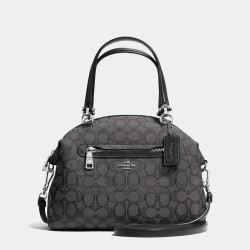 Coach Prairie Satchel In Signature Canvas Black