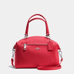Coach Rairie Satchel In Pebble Leather Red