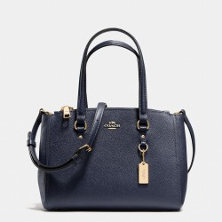 Coach Stanton Carryall 26 In Crossgrain Leather Navy Blue